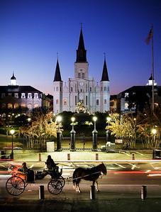 Jackson Square at Night - New Orleans, Louisiana