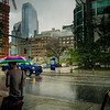 Downtown Calgary in the Rain and Hale