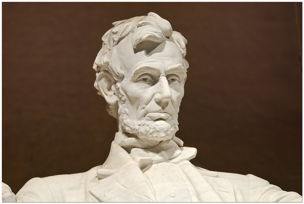 """Lincoln Memorial:<br /> """"With malice toward none; with charity for all; with firmness in the right, as God gives us to see the right, let us strive on to finish the work we are in; to bind up the nation's wounds ..."""""""