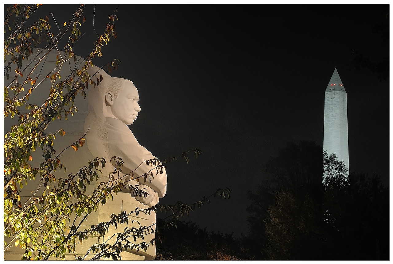 MLK Memorial with Washington Monument in background