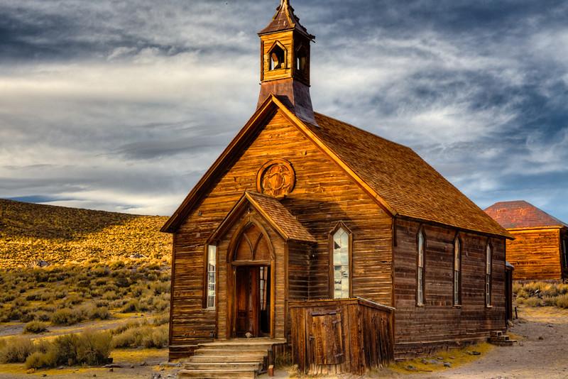 Church at Sunset - Bodie, AZ