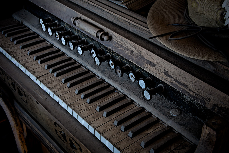 Old Schoolhouse Piano - Bodie, CA