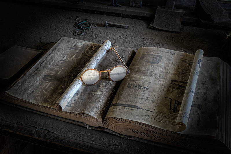 Book and Glasses - Bodie, CA