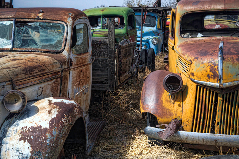 Old Car Collection Along Rt 66 - Moriarty, NM
