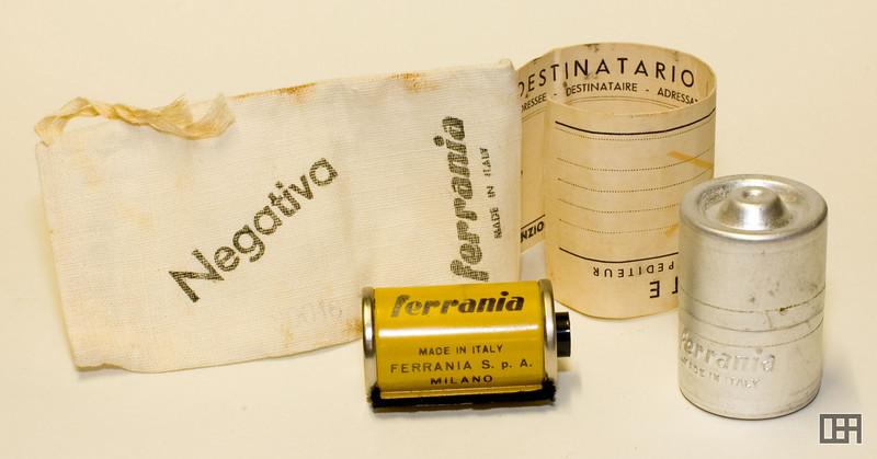Ferrania Color Negative Film and Return Bag