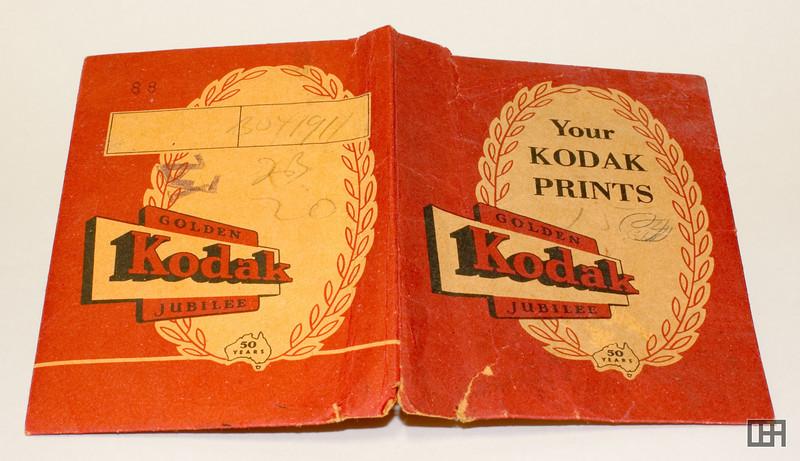 Outside of the Golden Jubilee Kodak Print and Negative Packet, 1956