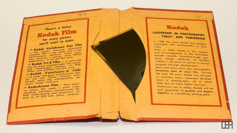 Inside of the Golden Jubilee Kodak Print and Negative Packet, 1956