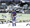 jhbirdattack - Ali Buckler of Farmington nearly has the sea gulls eating out of her hand as they fly around her head as she tosses them bread at Kershaw Park on Saturday.