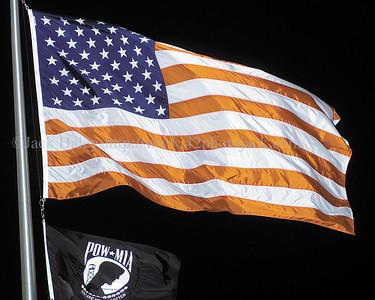 jhblissflag - The flag at the Bliss Shurfine in Shortsville.