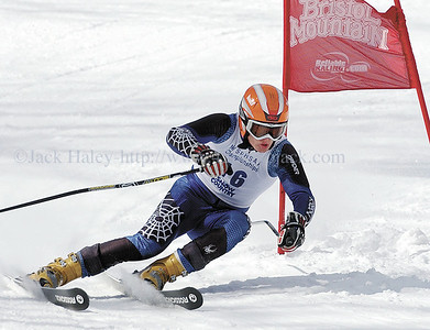 jhboysgs2 - Dan Halligan of Pittsford Sutherland competes in his first run in the Giant Salalom on Wednesday.