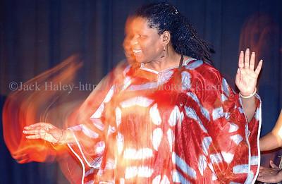jhafricandance3 - Tremontenia Morgan of African Resurrection, performs a dance on Thursday.