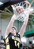 jhmcquaidchamps2 - Marty O'sullivan scores wo of his 13 points on a slam dunk late in the fourth quarter to help McQauid win the state title with a 57-50 victory over Mt. Vernon on Sunday.
