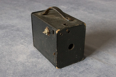 Goodwin No. 2 Camera by Ansco.  The camera used Ansco's 4A film, equivalent to Kodak's 120 film.