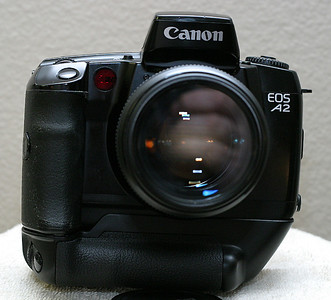 Canon EOS A2.  the non-eye control focus version.  This was my first Canon camera.  Long since sold (Image borrowed from flickr...)