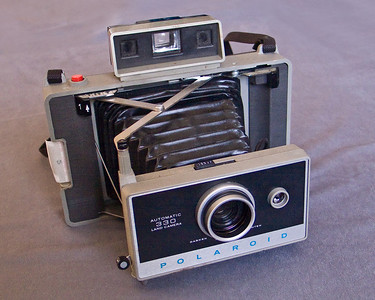 Polaroid Automatic 330 Land camera.  Good luck on finding film for this these days...