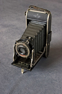 Agfa Plenax Camera, ca. 1930's.  This camera used Kodak 616 film and produced a negative 10.5cm X 6.5cm in size.