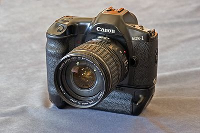 Canon EOS 1 35mm. The granddaddy of all Canon Series 1 cameras, film or digital.
