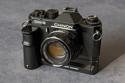 Chinon CM-3 35mm camera w/Power Winder