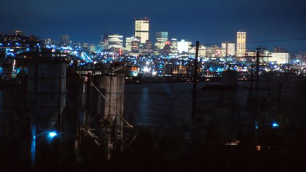 Night Skyline Seattle - 1972