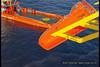 Bilder satt sammen til en liten video av livbåtstup med livbåt fra Nordsafe på Statfjord C.