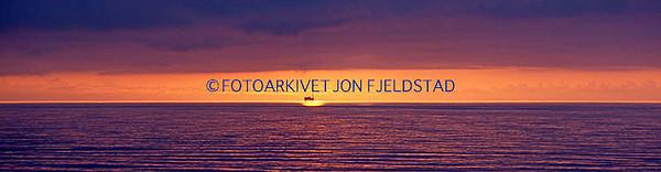 Solnedgang i Nordsjøen