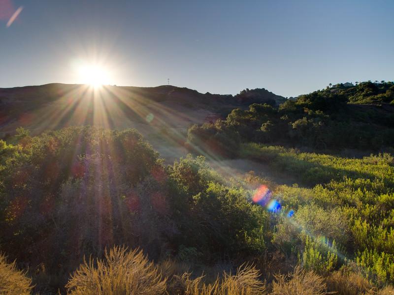 Sunrise over Trabuco Canyon - Exposure Enfused
