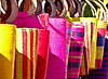 Vivid colours of handbags in french market.  Another from the archive.