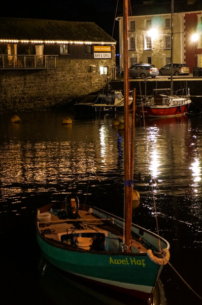 Aberaeron by night