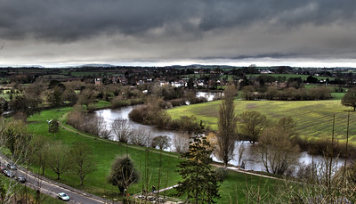 River Wye from The Prosect, Ross-on-Wye.  This image has been heavily processed - not sure if I like it or not.