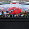 "4.17.12 - Our son Joel lives in La Center, WA thriving on a 'jig tying' business for steelhead, salmon and various other species of fish. For his birthday his lovely wife and in-laws purchased this screen print for his rear window of his truck. It is one of my designs and it gives me a sense of being with him as he drives from the various rivers and lakes to fish. You can see the background picture here <a href=""http://bench4boof.smugmug.com/Portraits/Dalies-2012/i-bBDFMvz/0/XL/Columbia-River-XL.jpg"">http://bench4boof.smugmug.com/Portraits/Dalies-2012/i-bBDFMvz/0/XL/Columbia-River-XL.jpg</a><br /> <br /> '"