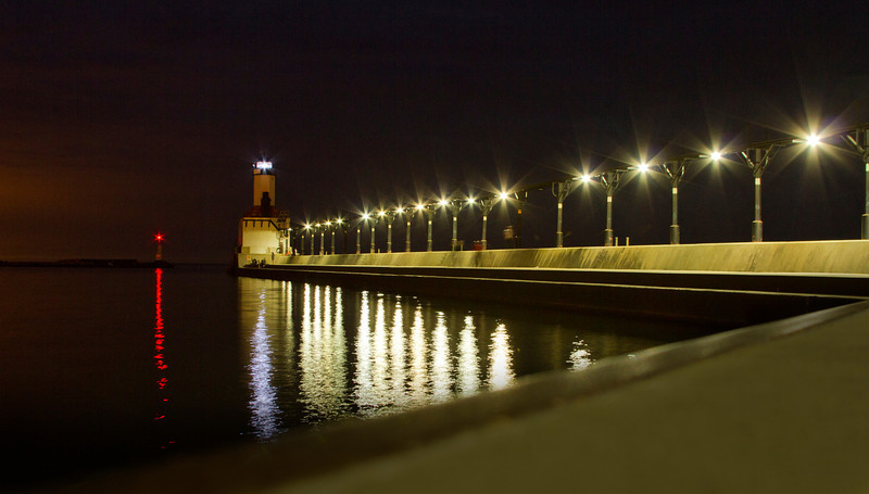 """6.29.12 - """"Lights and reflections"""" of Washington Park, Michigan City, IN"""