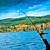 3.22.12 - Merwin Lake, WA,  I don't know what's better the fish on the line or the beautiful landscape? The fishing was good! Have a great day!