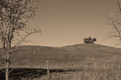 Field Art...countless pieces of old farm machinery dot the landscape.  Original is in gallery.  Enjoy.  Best in XLarge.