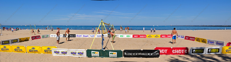 Beach volleyball panorama