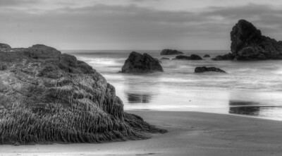 Black and White Harris Beach
