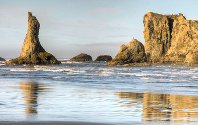 Rocks at Bandon Beach