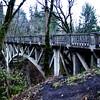 Wooden Bridge in Columbia River Gorge Near Portland Oregon