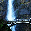 Multnomah Falls in Columbia River Gorge in Oregon