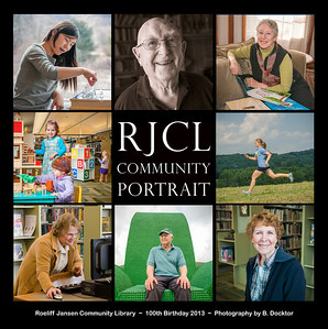 Roe Jan Community Library photo album cover for 100th anniversary