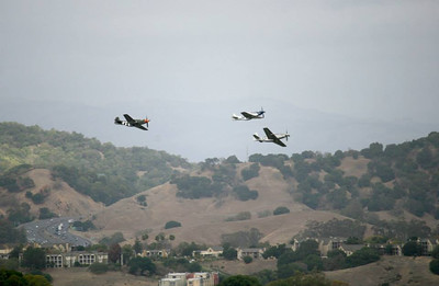 Missing man formation crosses highway 101 on Memorial Day.