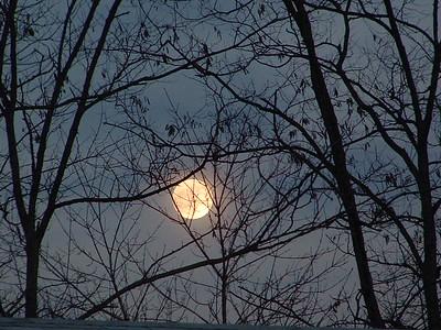 Hiding moon.