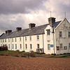 Shingle Street, Suffolk.The remote Coastguard Cottages.  1st April 2008.