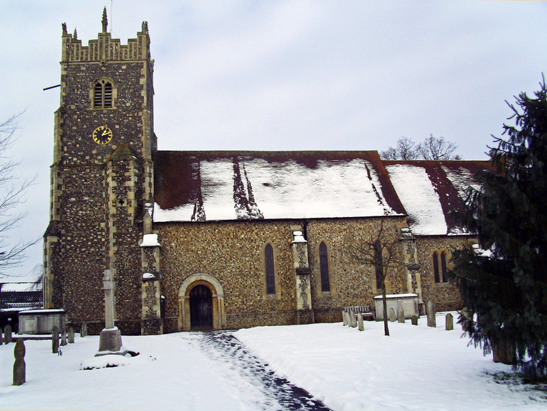 Rushmere Church near Ipswich. 21st January 2013
