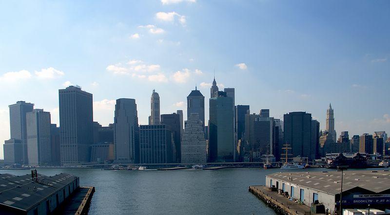 Lower Manhattan from the Brooklyn promenade, Brooklyn, NY