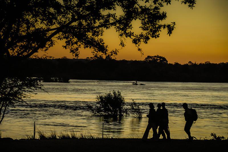 Stroll Along Zambezi River at Dusk