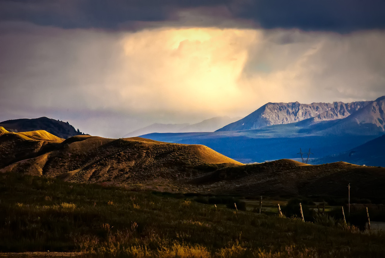 Rain & Sun on a Colorado Landscape