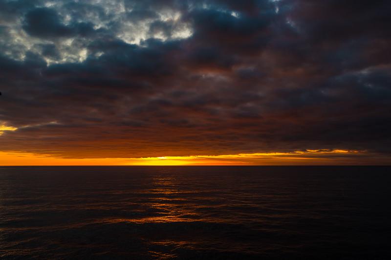 ICELANDIC SUNSET AT SEA