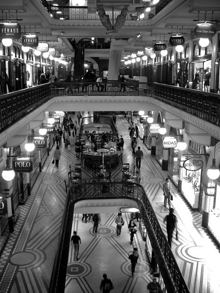 Day 54<br /> <br /> Four Floors...<br /> <br /> ... of QVB<br /> <br /> Taken on the way to dinner at chinatown tonight. The complexity is high - wish I had a wideangle with me to better represent the space (Shot with Canon TX1)