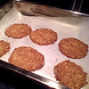 Day 28<br /> <br /> Anzac Biscuits made by a friend's wife (actually this batch we added a bit more water to see if they flattened out better - they did pretty much). <br /> <br /> I am full of oats ..