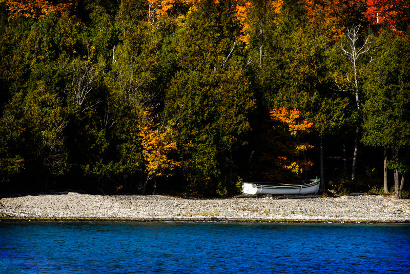 Schoolhouse Beach in Fall
